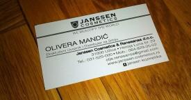 Janssen Cosmetics priprema za stampu kartica